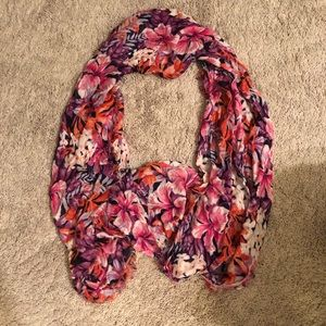 Tropical floral infinity scarf